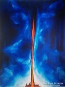 Ösztön-Akril festmény