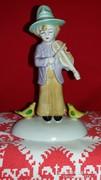 Régi Sitzendorfi utcai zenész porcelán figura