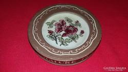 Gyönyörű Zsolnay porcelán ajándékboltos virágos kistálka tál