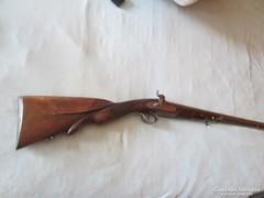 Francia, barokk, főúri, csappantyús, egycsövű vadászpuska