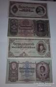 50 és 100 pengő ropogós szép bankjegyek 4 db egyben !