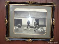 Fekete arany képkeret 70x60cm