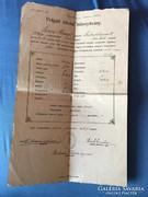 Polgári iskolai bizonyítvány 1912-ből