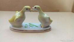 Hibátlan porcelán kacsa pár porcelán szobor