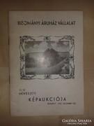 Bizományi Áruház Vállalat. 13. sz. művészeti képaukció. 1965