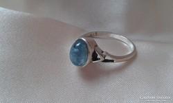 Akvamarin köves ezüst gyűrű