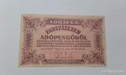 Egyszázezer Adópengő,vizjeles papir 1946!