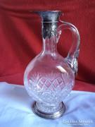 Gyönyörű antik Német ezüst és ólom kristály Kancsó