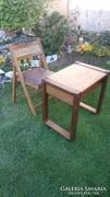Retro gurulós asztal és összecsukható szék