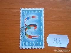 """OLASZ 25 LÍRA """"EUROPA"""" SOR RÉSZE 92."""