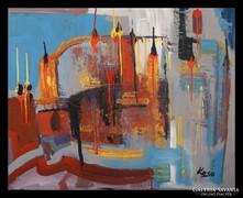 """""""Olvadás"""" hatalmas Koso  festmény,80 x 100 cm"""