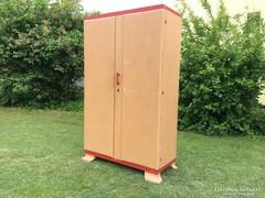 Art deco kétajtós fenyő szekrény ruhásszekrény