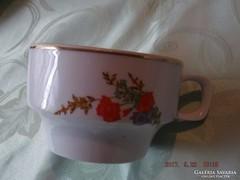 Pipacsos teás csésze hollóházi
