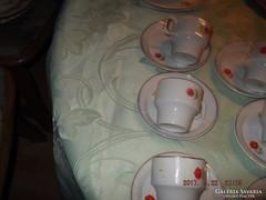 Csodaszép   hollóházi csésze 6 darab tányérral kis virágos