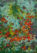 Ágh Ajkelin Lajos festménye - Címe: Őszi sziklavirág,