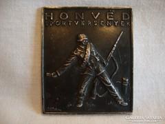 Jákfalvy ezüstözött bronz plakett Honvéd Sportversenyek