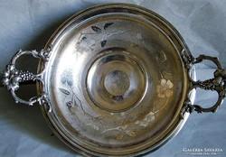 Antik talpas ezüstözött kínáló,asztalközép..jelzett(W.M.F)