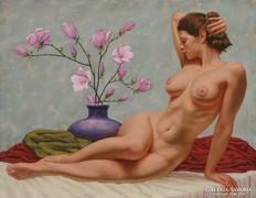 Lamoling Akt virágokkal