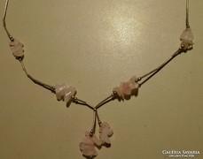 RÓZSAKVARC ezüst nyaklánc