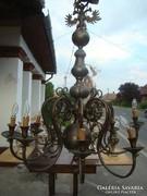 Antik nagyméretű bronz csillár