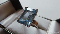Ezüst kék topáz gyűrű 6,99 gramm 925