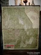 Antik Székelyföld térkép 1940-ből a II.bécsi döntés után