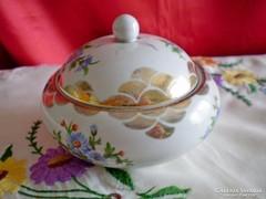 Régi pecsétes, nagyon ritka Hollóházi porcelán bonbonier