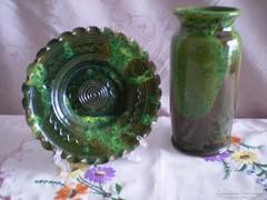 Egyedi kézzel készült kerámia váza és tál 2.