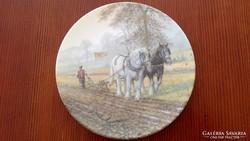 2 db kézzel festett fali tányér
