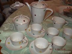 Csodaszép hollóházi pettyes hiányos kávés készlet