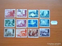 HORVÁTORSZÁG 0,25-10 KUNA 12 DB 1941 TÁJAK  274.
