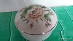 Hollóházi fedeles porcelán cukorka tartó