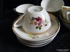 Hollóházi porcelán 6 db-os kávés, mokkás készlet