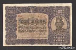 25000 korona 1923. NAGYON SZÉP!!!