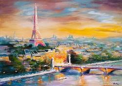 Párizs a fény városa  Festmény 70x50