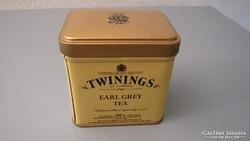 Twinnings teásdoboz, fémdoboz, pléh doboz