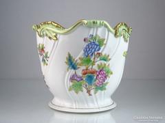 0M348 Viktória mintás Herendi porcelán kaspó