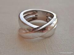 Szép régi vastag ezüst karikagyűrű