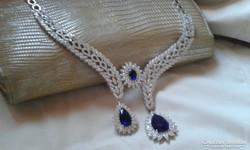 Gyémánt csiszolású ezüst nyakék