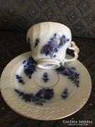 Ó Herendi máz alatti kobalt kék kávés csésze aljjal