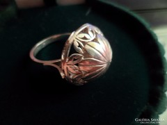 Kupolás ezüst gyűrű