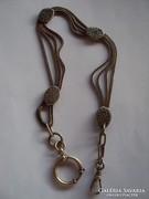 Szép  négy soros Albret zsebóra lánc