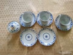 Eisenberg  Indigo  Japanblau antik kávéskészlet hiányos