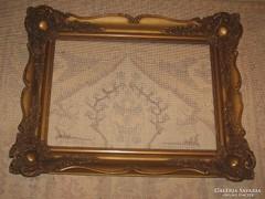 ANTIK  ÓARANY BLONDEL KERET 35,5 cm x 50,5 cm -es