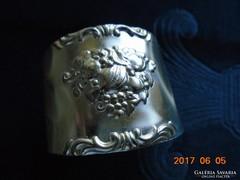Ezüstözött szalvéta gyűrű-dekoratív barok gyümölcs mintával