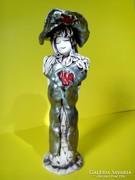 Sári Klára különleges kerámia nő szobor