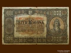 1000 KORONA - 1923-BÓL JÓ ÁLLAPOTBAN