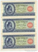 3 x 100 forint 1946 sorszámkövető UNC
