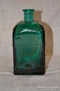 Drótozott, vastag falú színes üveg  ( DBZ 0089 )