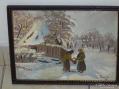 ROZS JÁNOS: eredeti festménye 940-ből